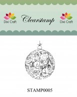 Dixi Craft - Clearstamp - Christmas ball - STAMP0005