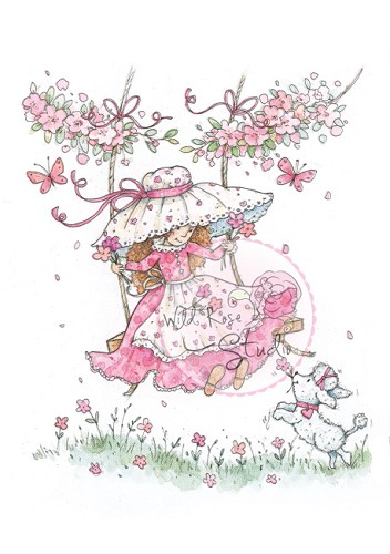 Wild Rose Studio`s - Clearstamp - Annabelle on Swing - CL287