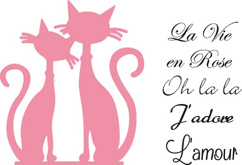 Marianne Design - Die - Collectables - French cats - COL1344