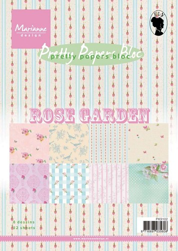Marianne Design - Paperpack - Pretty Papers - Rose garden - PK9102