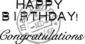 Marianne Design - Clearstamp - Congratulations - CS0883