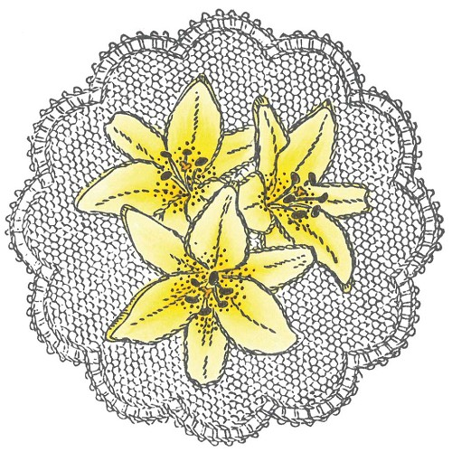 Marianne Design - Tiny`s - Cling Stamp - Lilies - TC0831
