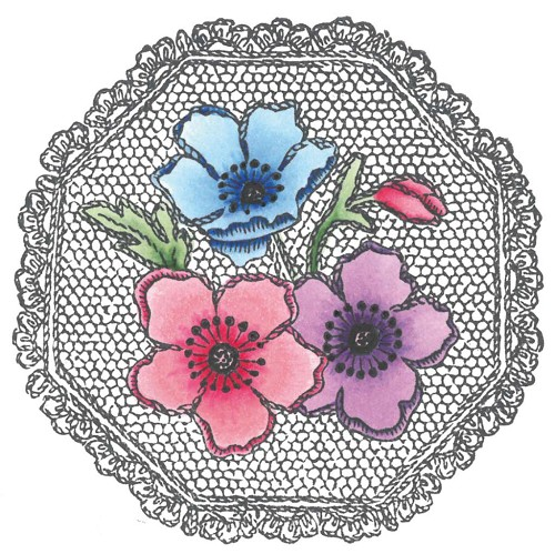Marianne Design - Tiny`s - Cling Stamp - Anemones - TC0833