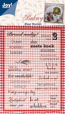 Joy! crafts - Clearstamp - Bakery - Tekst (NL) - 6410/0084