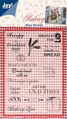Joy! crafts - Clearstamp - Bakery - Tekst (ENG) - 6410/0087