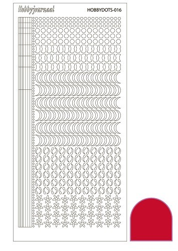 Hobbyjournaal - Stickervel - Hobbydots - Serie 16 - Adhesive: Red