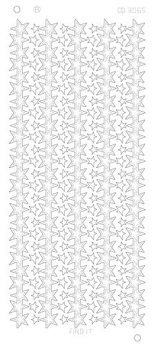 Card Deco - Stickervel - Platinum - Star lines large: Goud