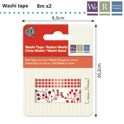We R Memory Keepers - Washi Tape: Red - 42198-6