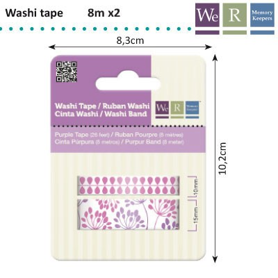 We R Memory Keepers - Washi Tape: Purple - 42204-4