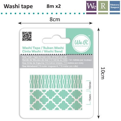 We R Memory Keepers - Washi Tape: Sea foam - 42420-8
