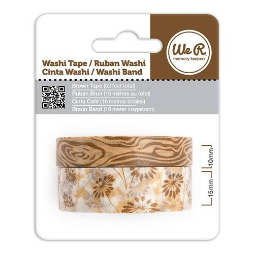 We R Memory Keepers - Washi Tape: Brown - 72205-1