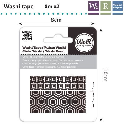 We R Memory Keepers - Washi Tape: Onyx - 42424-6
