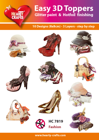 Hearty Crafts - Easy 3D Toppers - Fashion - HC7819