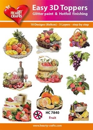Hearty Crafts - Easy 3D Toppers - Fruit - HC7840