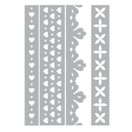 Sizzix - Die - Thinlits - Hearts & Flowers