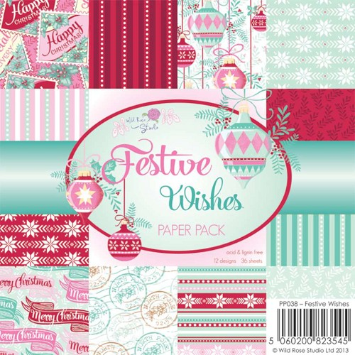 Wild Rose Studio`s - Paperpack - Festive Wishes - PP038