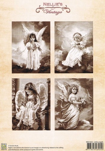 Nellie Snellen - Nellie`s Vintage - 3D-knipvel A4 - Little Angels