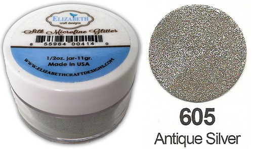 Elizabeth Craft Design - Silk Microfine Glitter: Antique Silver - 605