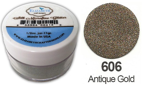 Elizabeth Craft Design - Silk Microfine Glitter: Antique Gold - 606