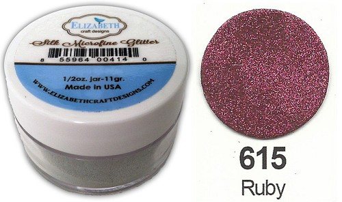 Elizabeth Craft Design - Silk Microfine Glitter: Ruby - 615