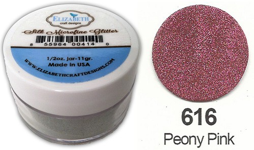 Elizabeth Craft Design - Silk Microfine Glitter: Peony Pink - 616