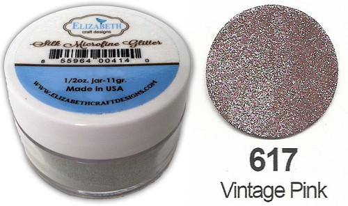 Elizabeth Craft Design - Silk Microfine Glitter: Vintage Pink - 617