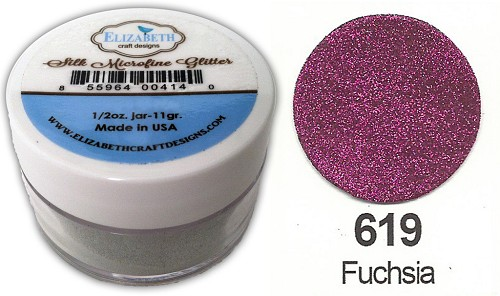 Elizabeth Craft Design - Silk Microfine Glitter: Fuchsia - 619