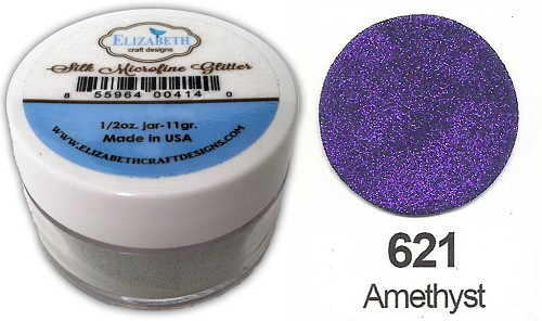 Elizabeth Craft Design - Silk Microfine Glitter: Amethyst - 621