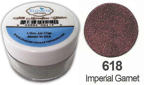Elizabeth Craft Design - Silk Microfine Glitter: Imperial Garnet - 618
