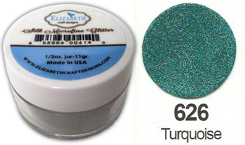 Elizabeth Craft Design - Silk Microfine Glitter: Turquoise - 626
