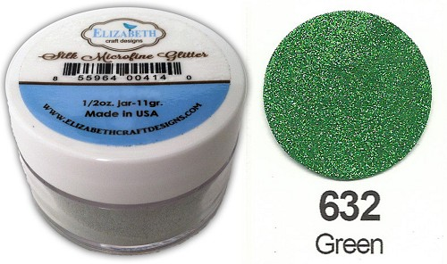 Elizabeth Craft Design - Silk Microfine Glitter: Green - 632