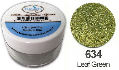 Elizabeth Craft Design - Silk Microfine Glitter: Leaf Green - 634
