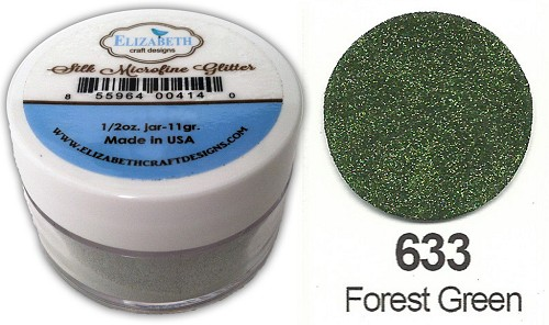 Elizabeth Craft Design - Silk Microfine Glitter: Forest Green - 633