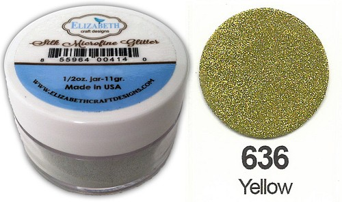Elizabeth Craft Design - Silk Microfine Glitter: Yellow - 636