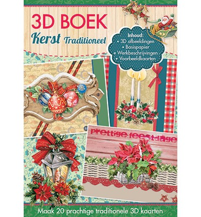 Studio Light - 3D-kaartenboek - Kerst Traditioneel