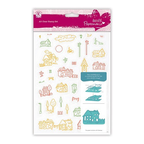 Papermania - Clearstamp - Village - PMA907321