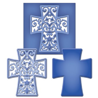 Spellbinders - Die - D-Lite - Filigree Cross