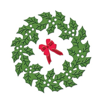 Spellbinders - Die - D-Lite - Holly Wreath