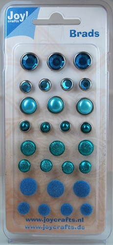 Joy! crafts - Brads: Turquoise - 6030/0004