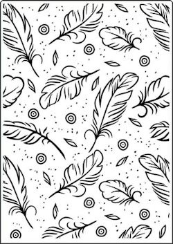 Crafts-Too - Embossingfolder - Feathers - CTFD3102