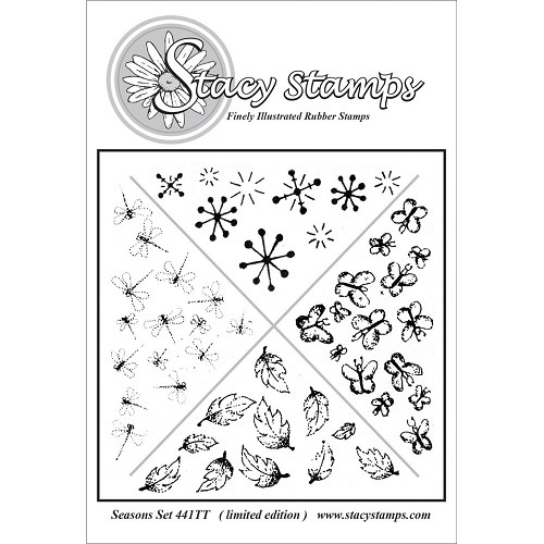 Stacy Stamp - Cling Stamp - Seasons set - 441TT
