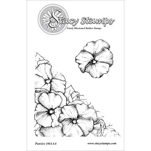 Stacy Stamp - Cling Stamp - Pansies - 1061AA