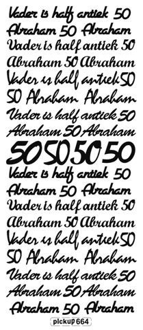 Pickup - Stickervel - Teksten - Abraham: Wit - 664