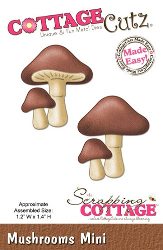 Cottage Cutz - Die - Mushrooms mini CC-MINI-147