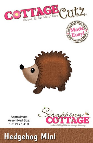 Cottage Cutz - Die - Hedgehog Mini - CC-MINI-143