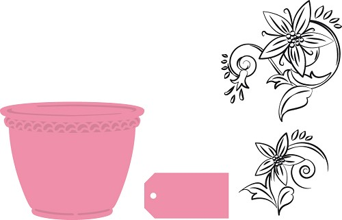 Marianne Design - Die - Collectables - Flowerpot