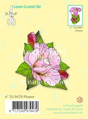 Leane Creatief - Clearstamp - Flower - 55.9470