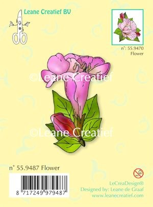 Leane Creatief - Clearstamp - Flower - 55.9487