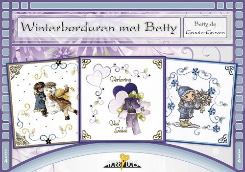 Card Deco - Hobbydols - No. 114 - Winterborduren met Betty