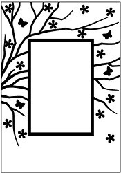 Nellie Snellen - Embossingfolder - Spring is in the air rectangle - EFE008